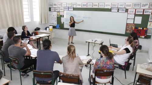 Estudos para Implantação do projeto piloto na Escola Municipal Navarro Lins. Foto: Phelippe José (PME de Joinville).